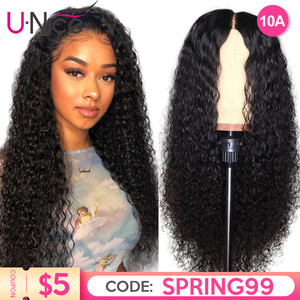 Unice Hair 13*4/6 Transparent Glueless Lace Front Human Hair Wigs Pre-Plucked With Baby Hair Curly Lace Front Natural Wigs(China)