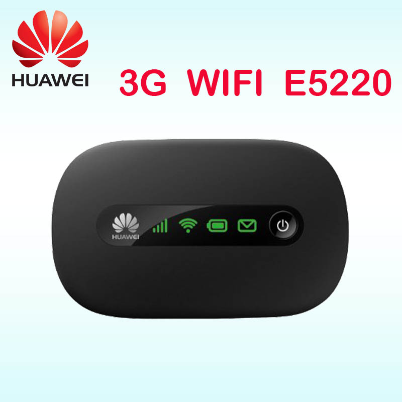 Unlocked Huawei E5220 3G Router Mobile Hotspot Pocket Mifi Wireless 3G Modem Car WiFi With SIM Card Slot PK E587 E5830 E5330