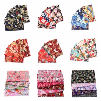 5pcs 20x25cm Japanese Printed Cotton Fabric Bundle For Sewing Dolls &Bags, Quilting material DIY Patchwork Needlework 1