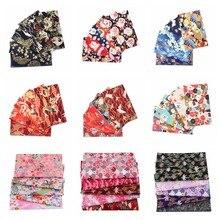 Lot de tissus en coton imprimés japonais, 20x25cm, pour coudre poupées et sacs, matériel de courtepointe, bricolage, Patchwork, couture