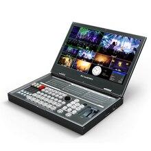 AVMATRIX conmutador de vídeo multiformato PVS0615 mezclador portátil con pantalla LCD FHD de 15,6 pulgadas, 6 canales de entradas