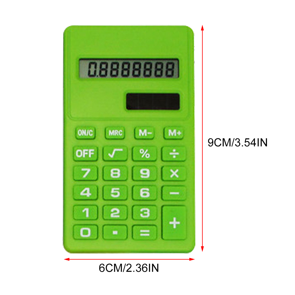 Calculator Pocket Size 8 Digit Display For School Office and Home.