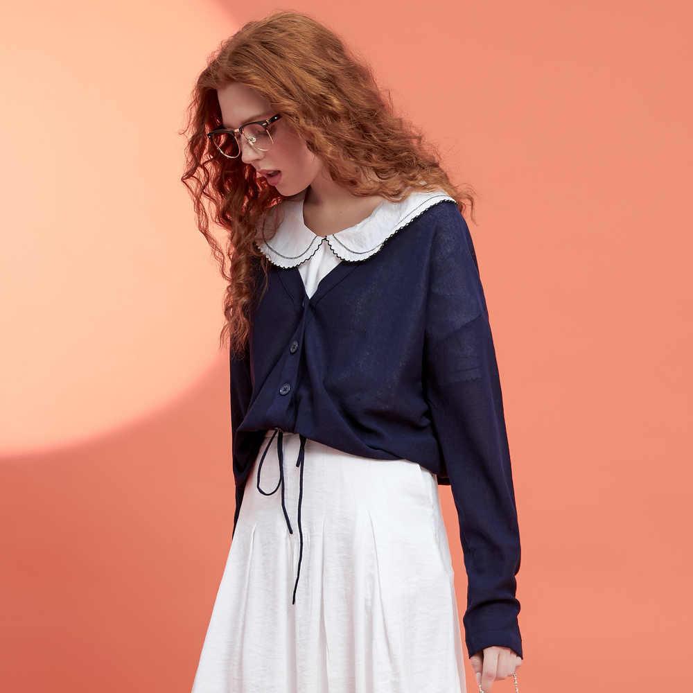 Metersbonwe, вязаный кардиган, свитер, женский, 2019, летний, простой, Одноцветный, нижний светильник, тонкая одежда, модный кардиган для женщин