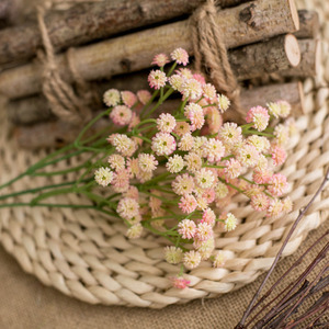 Image 5 - ขนาดเล็กDaisy Camellia Puกาวนุ่มดอกไม้พลาสติกดอกไม้ตกแต่งบ้านงานแต่งงานอุปกรณ์เสริมMiniดอกไม้ปลอมของขวัญ