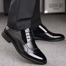 Business Luxury OXford Shoes Men Breathable Leather Shoes Rubber Formal Dress Shoes Male Office Party Wedding Shoes Mocassins(China)