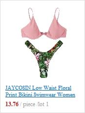 New size women swimwear sexy retro print split bikini beach party 3 color swimsuit summer high waist brazilian girl hot bikini