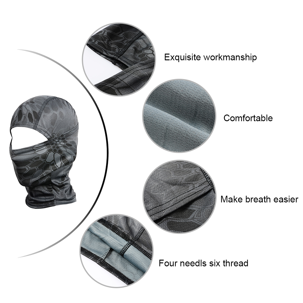 Image 4 - Sport Tactical Camouflage Balaclava Outdoor Full Face Mask Cover Bicycle Hunting Hiking Cycling Army Bike Military Liner Cap-in Scarves from Sports & Entertainment