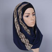 Chiffon Shawl Scarf Stole Bandanas Muslim Hijab High Quality Head Wrap Plain Cotton 170cm*80cm 2018 women scarf muslim hijab scarf chiffon hijab plain silk shawl scarveshead wrap muslim head scarf hijab