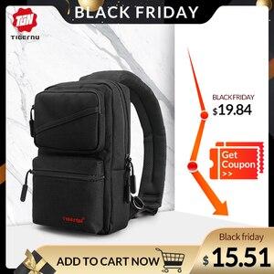 New Design Tigernu men Chest Bag Brand Casual Chest Bag Splashproof Men Bag Messenger Bag Crossbody Sling Bag for ipad