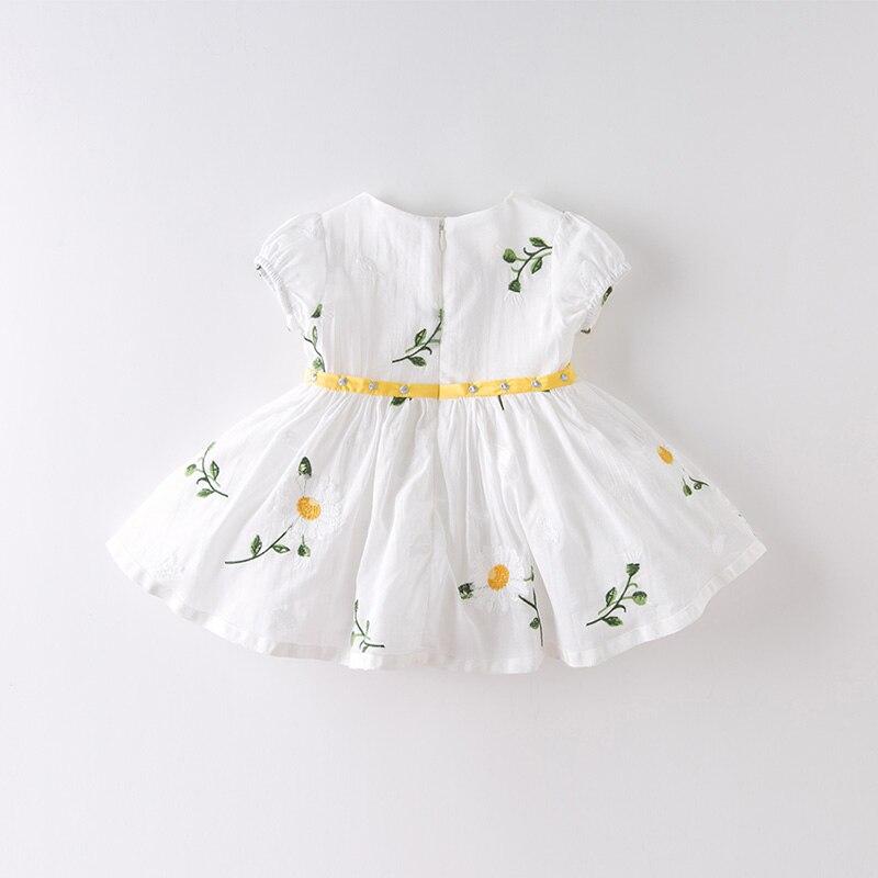 DB13640 dave bella/летнее милое Сетчатое платье с цветочной вышивкой для маленьких девочек Детские Модные Вечерние Платья Детская одежда в стиле «л...