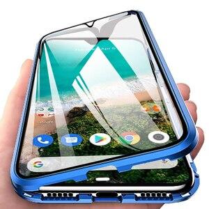Image 1 - 360 adsorção magnética flip caso de telefone para xiaomi mi a3 10 pro 9 9 t frente caso capa traseira em xiomi redmi nota 9s mi10 pro meu t9