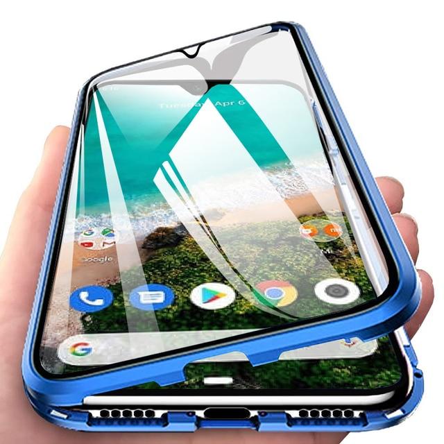 360 manyetik adsorpsiyon Flip telefon kılıfı için Xiaomi Mi A3 10 Pro 9 9T ön arka kapak durumda xiaomi Redmi not 9s mi10 Pro benim t9