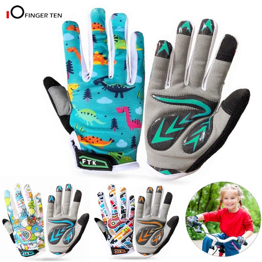 Новые цветные Нескользящие велосипедные перчатки для детей, гелевые перчатки с наполнителем для езды на велосипеде, для активного отдыха, г...