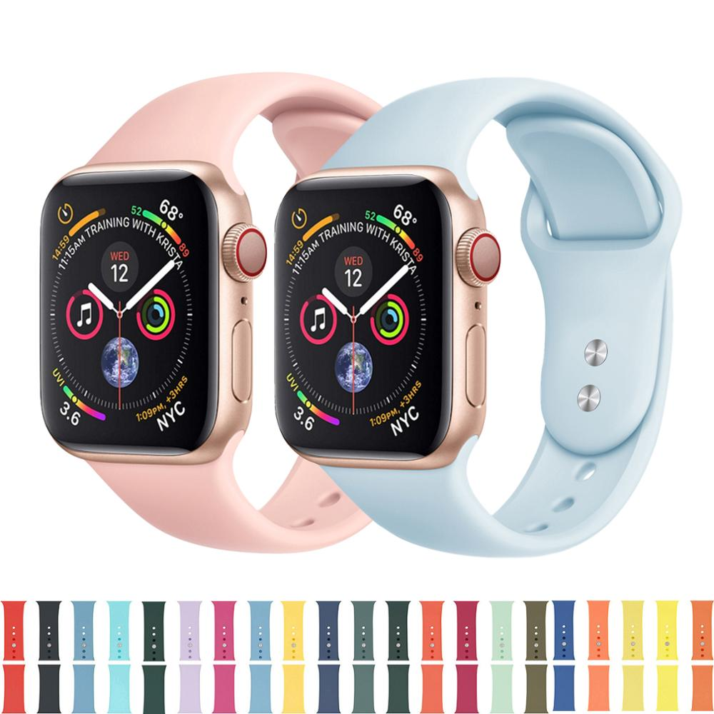 Soft Silicone Replacement Sport Band For 38mm Apple Watch Series 1 2 3 4 5 42mm Wrist Bracelet Strap For IWatch Sports Edition