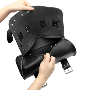 Image 5 - LEEPEE Motorrad Tasche Moto Rucksack Lagerung Beutel Sattel tasche Tank Tasche PU Leder Motorrad Gepäck Motorrad Zubehör