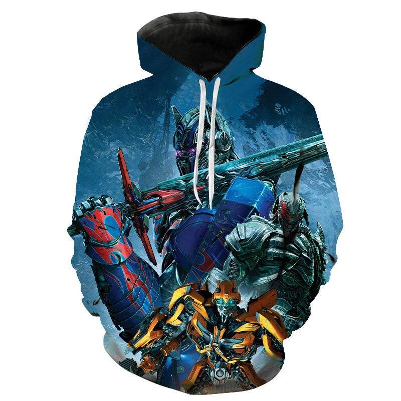 New Fashion Hoodies Men Women Children Sweatshirt 3D Printed Movie Transformers The Last Knight Hoodie Boy Girl Pullover Hoody