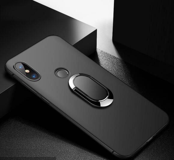 For <font><b>Oukitel</b></font> <font><b>C15</b></font> <font><b>Pro</b></font> Case <font><b>Cover</b></font> Matte Silicone Soft Finger Ring Magnet Phone Case For <font><b>Oukitel</b></font> <font><b>C15</b></font> <font><b>Pro</b></font> Stent Phone Cases C15Pro image