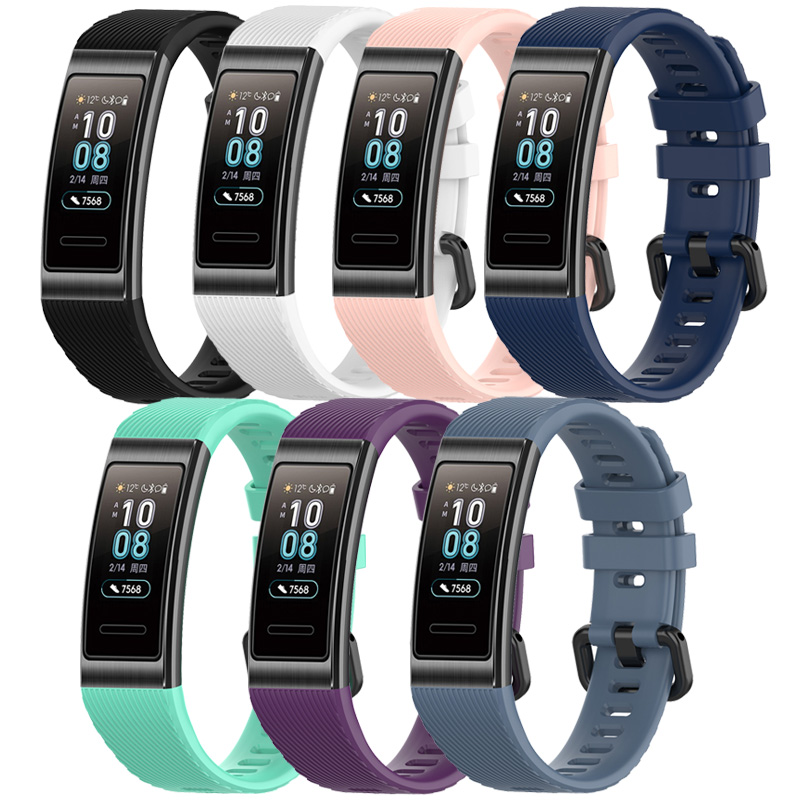 Colorful Silicone Watch Band For Huawei Band 3 Pro Bracelet Strap Replacement Wristband Accessories For Huawei Band 3 Bracelet