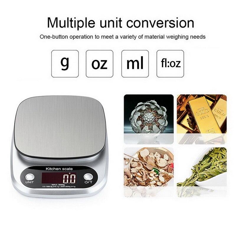 5kg/0.1g מטבח דיגיטלי מזון בקנה מידה מאוד מדויק במשקל מזון בקנה מידה ביתי איזון בישול למדוד כלי G/עוז/ml/fl