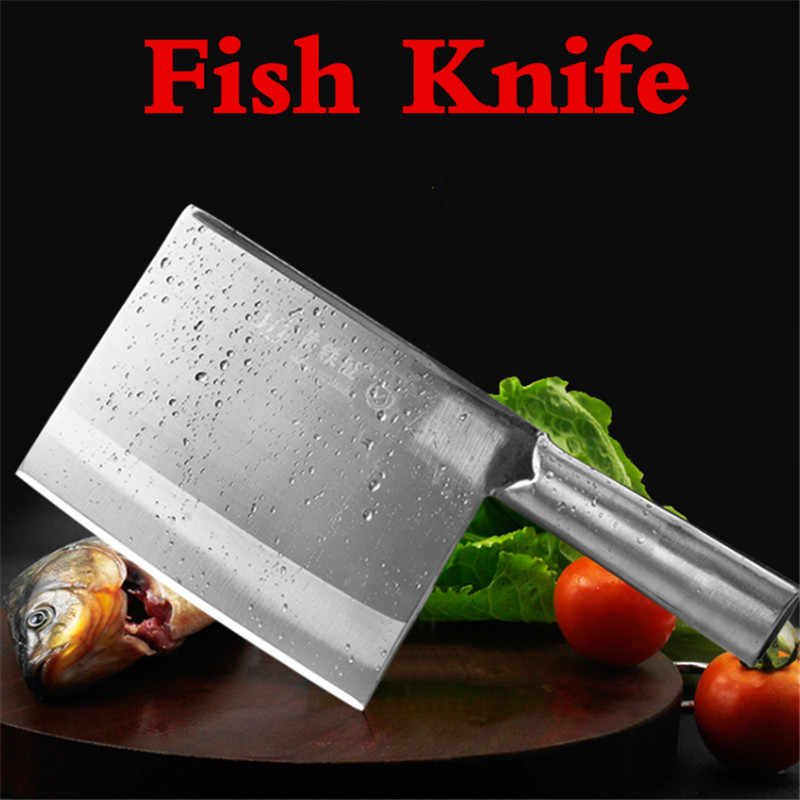 super sharp heavy big Handmade Special knife for killing fish thicken cutting fish bone sashimi japanese chef knife meat cleaver