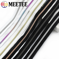 5/10Meters 5# Nylon Zippers Coil Zip with Sliders for Clothes Bags Pocket Zipper Slider Replace DIY Garment Sewing Accessories