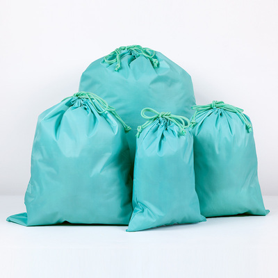 Four-piece Set Shoes Underwear Travel Sport Bags Waterproof Nylon Drawstring Bags Portable Organizer Clothes Packing Pouches