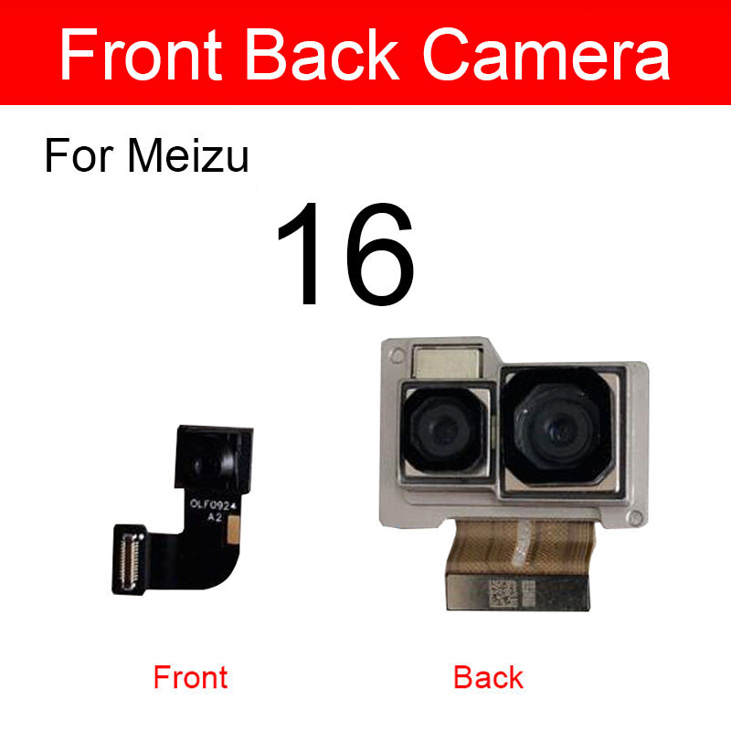 Front & Rear Back <font><b>Camera</b></font> For <font><b>Meizu</b></font> 16 <font><b>16th</b></font> M882H M882Q Small Facing Main Big <font><b>Camera</b></font> Flex Cable Ribbon Replacement Repair Parts image