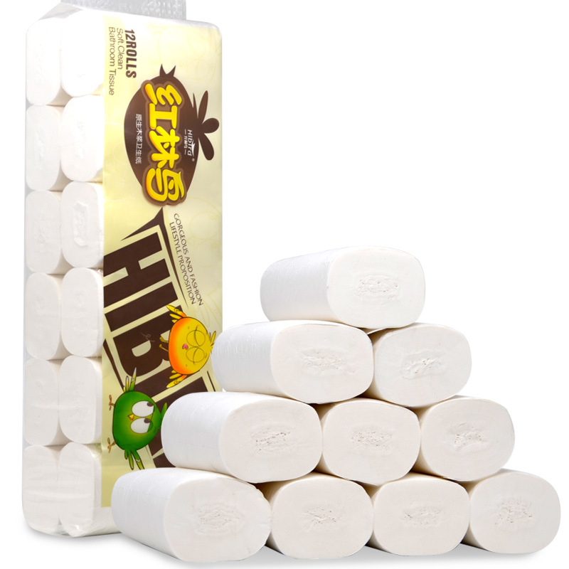 Hl Niao Toilet Paper Manufacturers Direct Selling Raw Wood Pulp Household Coreless Roll Paper 12 Volume 1000G