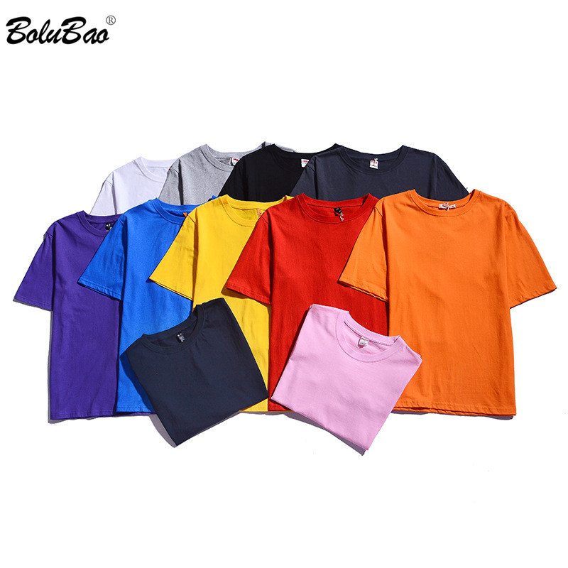 BOLUBAO Brand Men Summer Super Soft T shirts Men Short Sleeve Cotton T-shirt Solid Color Fashion Casual Tee Shirt Tops Male