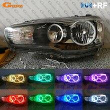 RF télécommande Bluetooth APP multicolore Ultra lumineux rvb LED ange yeux kit pour Mitsubishi Lancer X 10 2007 2016 phare halogène