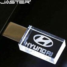 Disco externo de u da vara da memória do armazenamento de 32gb 64gb 128gb pendrive 4gb 8gb 16 do flash de usb do metal de cristal moderno de hyundai