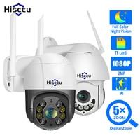 Hiseeu 1080P inalámbrica domo PTZ Cámara cámara IP WiFi al aire libre de dos vías de Audio Video de seguridad CCTV red cámara de vigilancia P2P