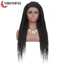 Youthfee Lace Front Synthetic Wigs With Baby Hair 28