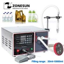 ZONESUN GZ GFK17A חצי אוטומטי מילוי מכונת כביסה בישול שמן מים מיץ אלכוהול חלב נוזלי בקבוק מילוי מכונה