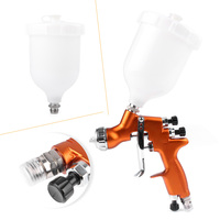 Auto Car Body Paint 1x HD 2 HVLP Air Gravity Feed Spray Gun Kit 1.3mm Nozzle Coat Paint Repair Tool
