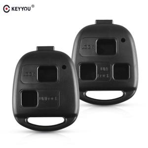 KEYYOU 2/3 BT Remote Car Key Shell Case for Toyota Land Cruiser YARIS CAMRY RAV4 Corolla PRADO Prado Tarago Avensis FJ For Lexus(China)