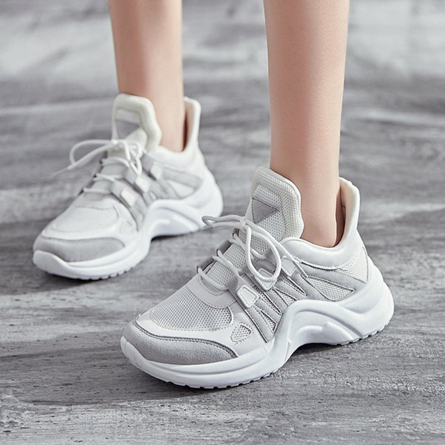 Women Shoes New Breathable Mesh Casual Shoes Women Fashion Sports Shoes High Quality platform Women Vulcanized Shoes Size 35-43 5