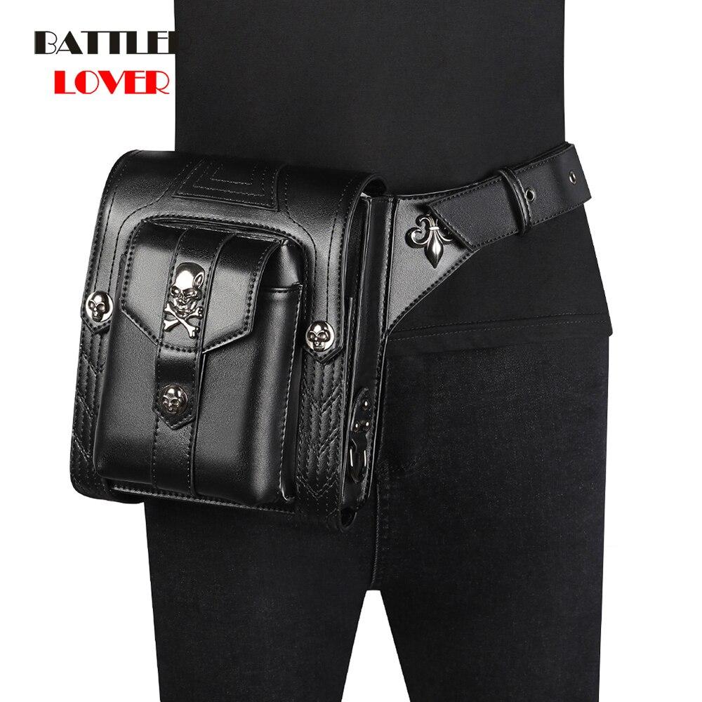 Women Steampunk Waist Leg Bags Skulls Men Victorian Style Holster Bag Motorcycle Thigh Hip Hop Belt Packs Messenger Shoulder Bag