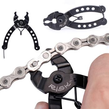 Łańcuch rowerowy Mini górski łańcuch rowerowy szybkie łączenie rower narzędzie pomiarowe zaciski środek śruba hak łańcuchowy akcesoria rowerowe tanie i dobre opinie CN (pochodzenie) Mini Chain Quick Link Tool Bicycle Tools high-carbon steel Mountain Bike Road Bike