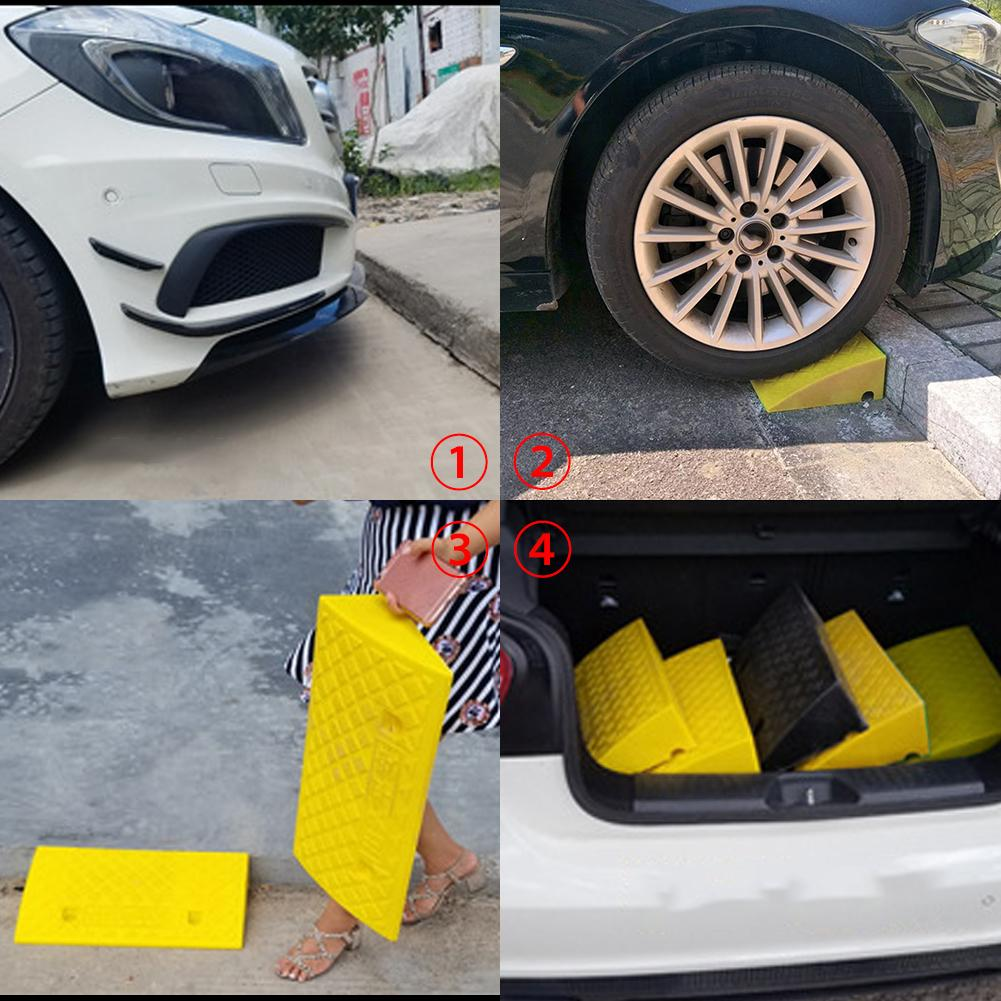 Wheelchair Mobility Truck Sidewalk Loading Dock Motorcycle Lightweight Plastic Curb Ramps Heavy Duty Plastic Threshold Ramp Kit Set for Driveway Car Scooter Bike