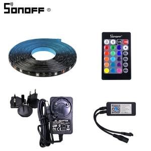 Image 5 - Sonoff L1 Smart LED Licht Streifen Wasserdicht Smart WiFi Flexible RGB Streifen Lichter APP Stimme Concrol Arbeit mit Alexa Google hause