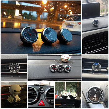 1Pcs Car Dashboard Clock Car  Decoration Ornament Fluorescent/non-fluorescent vehicle hygrometer/thermometer Auto Ornament Gifts onewell high quality 3in1 digital lcd clock screen car auto vehicle time clock thermometer voltage two color luminous