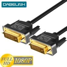 1080P DVI Kabel DVI auf DVI Kabel High Speed DVI D zum Männlichen Video Kabel 24 + 1 Dual link 1M 2M 3M PC Computer Adapter Draht Kabel