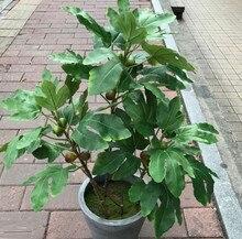 70cm13 Leaf 5 Fruit Artificial Lifelike Fig Plant Green Silk Cloth Fig Branch Indoor Bonsai Office Home Garden Living Room Decor