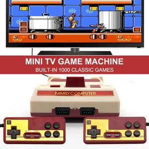 Mini TV Video Game Console Built in 1000 Classic Games Retro Console Controller Dual Players Gamepad AV Output