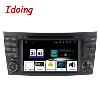 Idoing 7 4G+64G 8Core 2 din Andriod 9.0 Car Radio GPS DVD Multimedia Player For Mercedes-BenzE Class W211 IPS Screen Navigation image