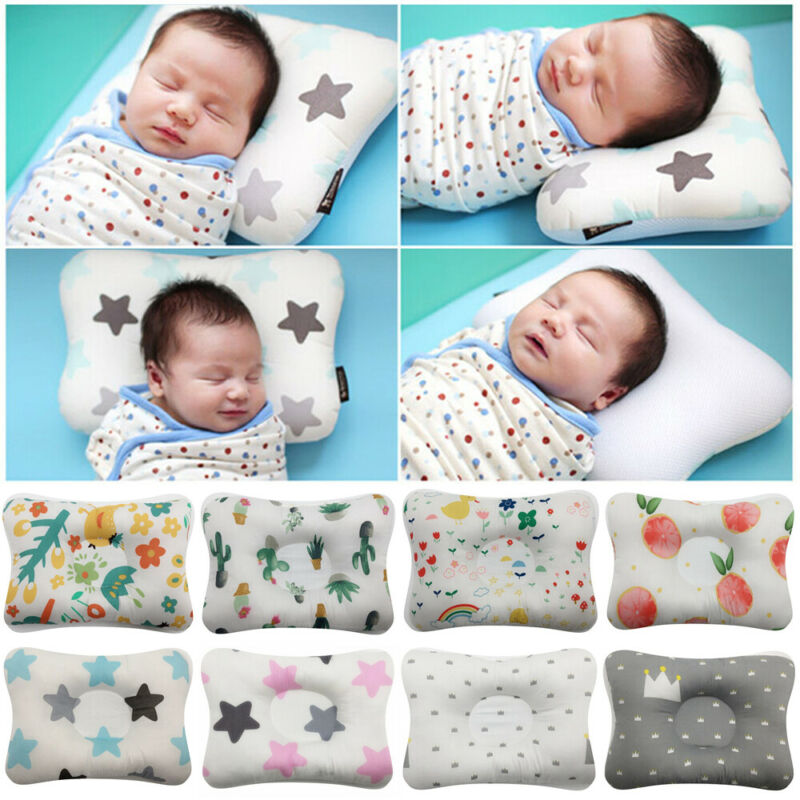 New Hot Sale Baby Pillow Newborn Head Protection Cushion Infant Sleep Positione Anti Roll Pillow
