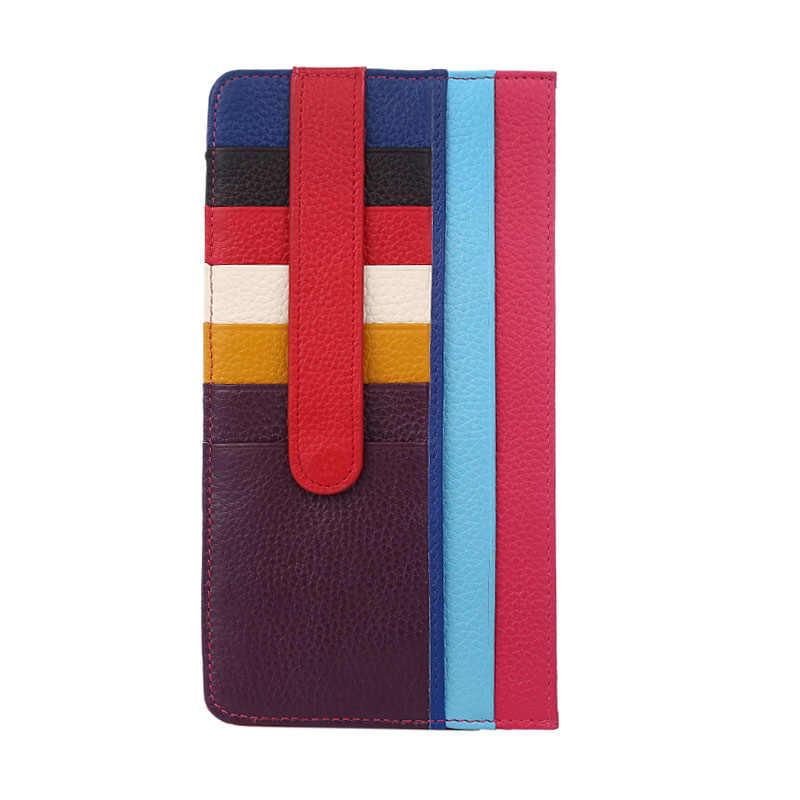 Кевин Юн дизайнерский бренд натуральная кожа Женский держатель для карт из кусков кожаный чехол для кредитных карт кошелек