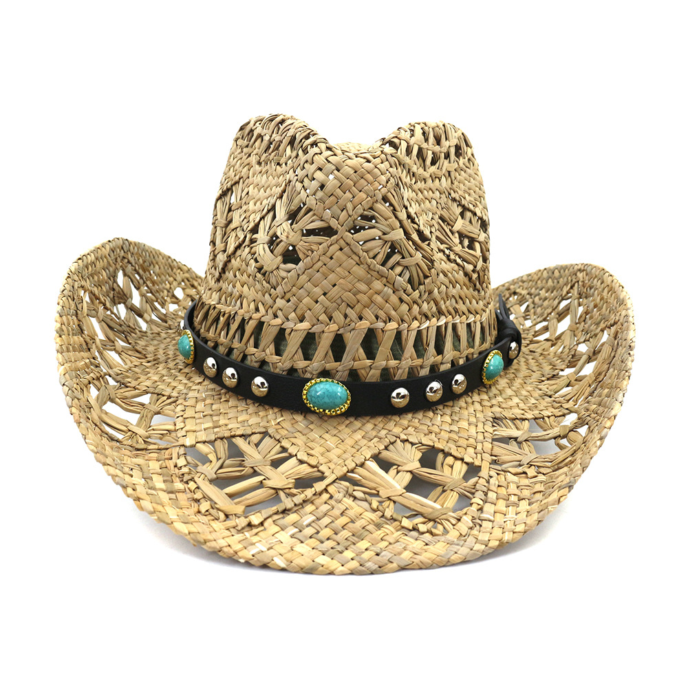Unisex Hat outdoor fishing western cowboy straw hat male sun hat vacation summer beach hat for outdoor hat camping fashion hat