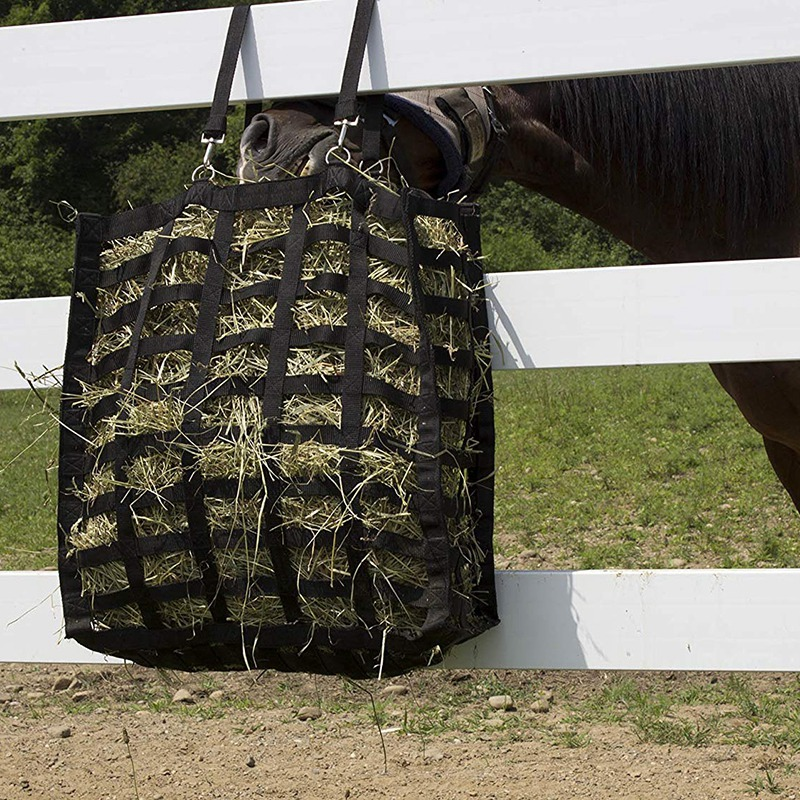 Hay Bag Four Sided Slow Feed Hay Bag Storage Bag For Horse Feeder Horse Racing Equipment